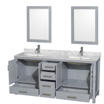 "Armada 72"" Double Sink Bathroom Vanity Light Grey"