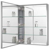 "Zenith Aluminum Beveled Mirror Medicine Cabinet 15"""