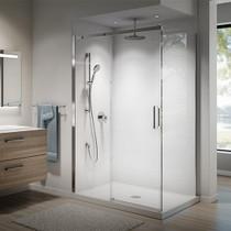 VIVIO DR1478 60'' X 75'' sliding shower door for alcove installation