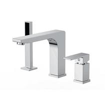 Royal Modern Roman Bath Brass Deck Mount Faucet With Hand Shower 3-Hole Tub