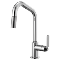 BRIZO LITZE™ PULL-DOWN FAUCET WITH ANGLED SPOUT AND INDUSTRIAL HANDLE CHROME