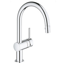Grohe Minta Single-Handle Kitchen Faucet Dual Spray Pull-Down Chrome Store Display Sale