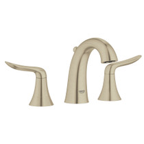 "Grohe Agira 8"" Widespread Two-Handle Bathroom Faucet Lavatory Wideset Brushed Nickel Finish"
