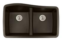 "Karran Double Equal Bowl Undermount Kitchen Sink Brown Finish 33-1/2"" x 20-1/2"""