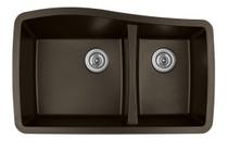 """Karren Double Bowl Undermount Kitchen Sink Brown Finish 33-1/2"""" x 20-5/8"""""""