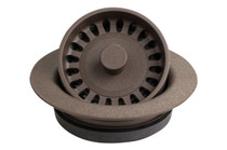 Karran Quartz Disposal Flange Brown