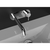 Rubi Vertigo Wall Mounted Washbasin Faucet Chrome Finish