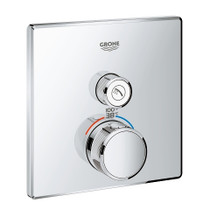 Grohe Grohtherm SmartControl Single Function Thermostatic Trim with Control Module Chrome Finish