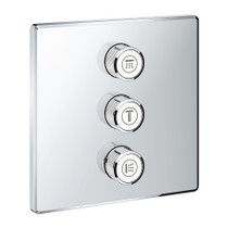 Grohe Grohtherm SmartControl Triple Volume Control Trim Chrome Finish