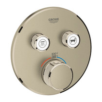 Grohe Grohtherm SmartControl Dual Function Thermostatic Trim with Control Module Brushed Nickel Finish