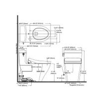 TOTO MW6243056CEFG Legato WASHLET S550e One Piece Toilet Cotton