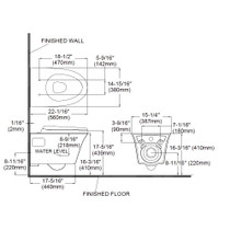 TOTO CT486FG Maris Wall Hung Dual Flush Elongated Toilet Cotton