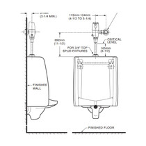 "American Standard 6063051 Exposed Flushometer for 3/4"" 0.4GPF DC"