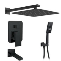 Midnight 3-Way Shower System Matte Black