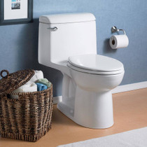 American Standard Champion 4 Elongated Right Height One-Piece Toilet 1.6 GPF with Seat White