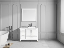 "Armada 42"" Right Hand Bathroom Vanity White"