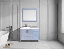 "Armada 40"" Left Hand Bathroom Vanity Ice Grey"