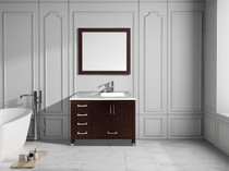 "Armada 42"" Right Hand Bathroom Vanity Espresso"