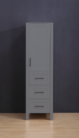 "Armada Side Column Linen Tower Grey 78"" H x 18.5 x 22"" D"