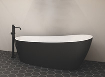 "Zitta Issa Freestanding Bathtub Matt Black 59 1/2"" x 29″ x 27 1/2″"