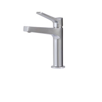 AquaBrass Metro Single-hole lavatory faucet in Brushed Nickel