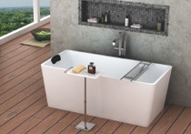 Zitta Bathtub Side Table With Towel Bar