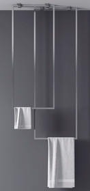 Zitta Ceiling Towel Bars Duo
