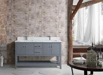 "Hampton 60"" Ice Grey Double Sink Bathroom Vanity"