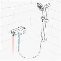 Grohe 123156 GrohTherm 2000 Exposed THM Dual Function Shower Kit