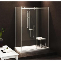 "Zitta Bellini Alcove Shower 1 Door & Fixed 60"" x 36"", Base 60"" x 36"""