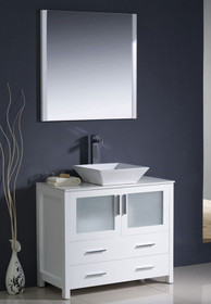 "Vaughn 30"" Bathroom Vanity White"