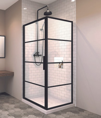 "Zitta Signature Materia 36"" x 36"" Shower Door"