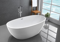 "Kelowna 59"" Freestanding Bath Tub White"