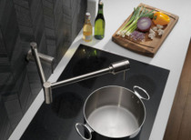 DELTA Contemporary Wall Mount Pot Filler Brilliance Stainless