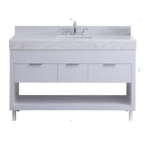 "SLS 60"" White Bathroom Vanity Single Sink"