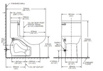 American Standard Compact Cadet 3 FloWise One-Piece 1.28 gpf Toilet Bone