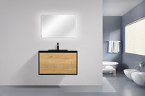 "Felix 35"" Wall Mount Bathroom Vanity"
