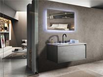 """Freda 39"""" Wall Mount Bathroom Vanity With Stone Top"""