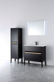 George Chestnut Bathroom Vanity 33""