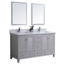 "Niagara 60"" Bathroom Vanity Double Sinks Grey"
