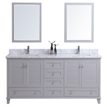 "Niagara 72"" Bathroom Vanity Double Sinks Grey"