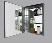 """Edi Mirror - Aluminum Cabinet Mirror 20"""" x 26"""" x 5"""""""