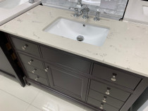 "Argento 48"" Bathroom Vanity Espresso with Quartz Top *ONLY 1 REMAINING*"