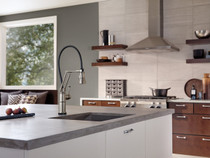 Brizo Artesso SmartTouch Articulating Kitchen Faucet Stainless Steel Finish