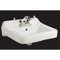 "CONTRAC WALL MOUNT BASIN 4""CC WITH LEDGE SINK ADA"