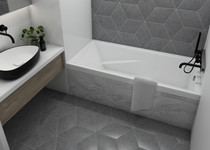 Mirolin Cetera Alcove Bathtub 60 x 32 x 20 Right Hand