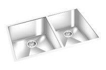 "GE Double Kitchen Sink 30"" x 18"""