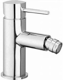 Aquabrass Volare Straight Single Hole Bidet with Swivel Spray Brushed Nickel