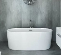 Mirolin Ilusa Slimline 5 ft Freestanding Bathtub
