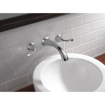 DELTA Addison Wall Mount 3 Hole Lavatory Faucet